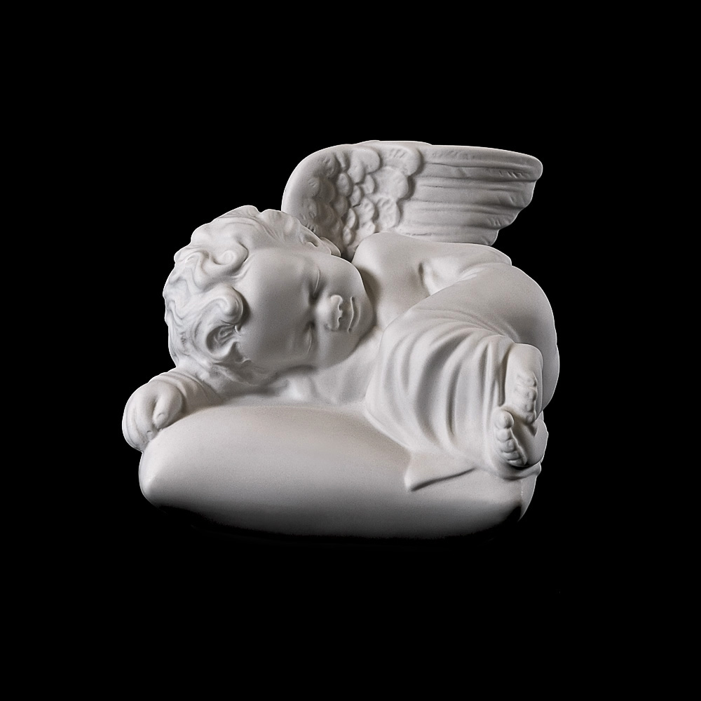 Rzeźba nagrobna Śpiący aniołek na podusi