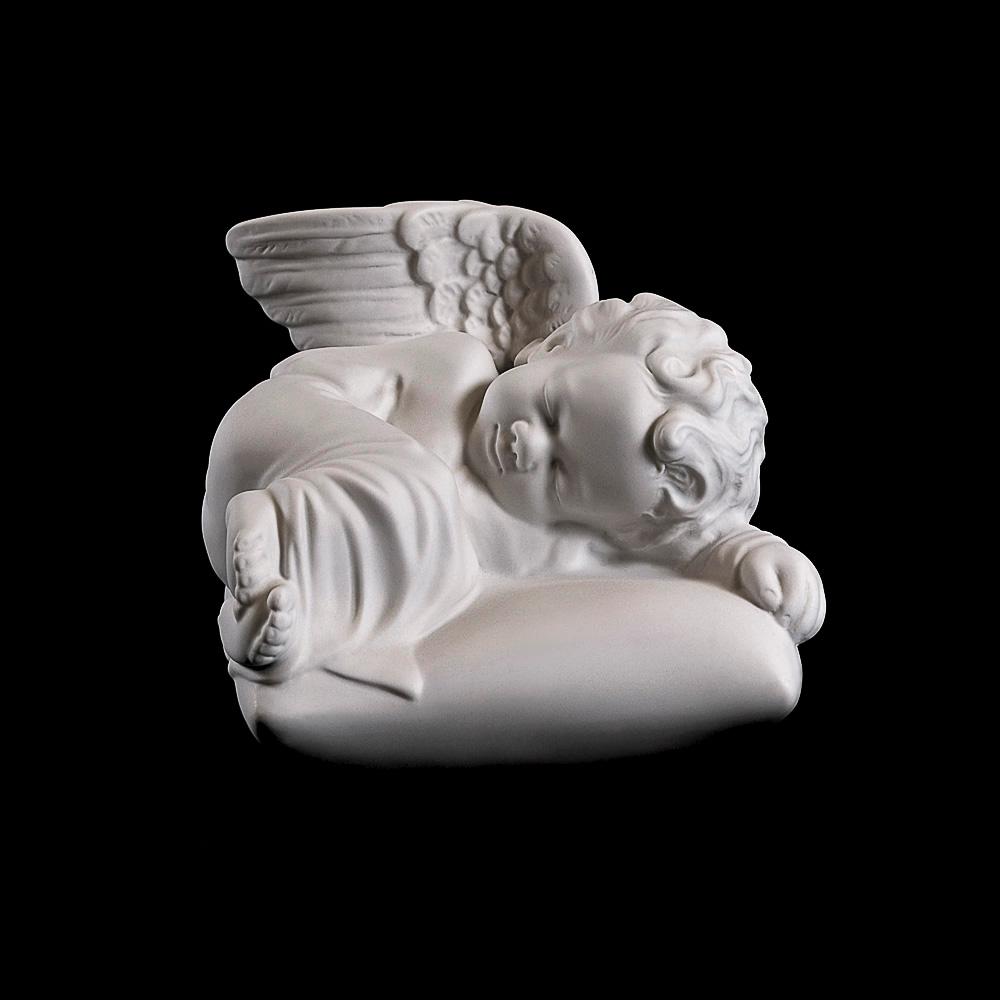 Rzeźba nagrobna Śpiący aniołek na podusi P