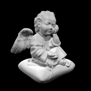 Rzeźba nagrobna Siedzący aniołek na podusi