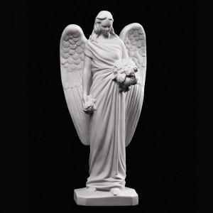 Anioł z kwiatami