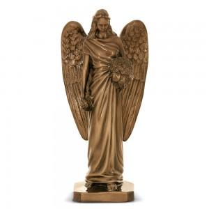 Rzeźba nagrobna Anioł z kwiatami
