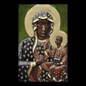 Rzeźba sakralna Płaskorzeźba Matka Boża Częstochowska