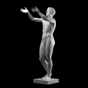 Rzeźba dekoracyjna Modlący się chłopiec