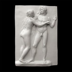Rzeźba dekoracyjna Płaskorzeźba Adam i Ewa