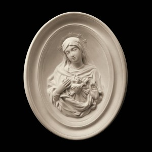 Rzeźba nagrobna Serce Najświętszej Maryi Panny